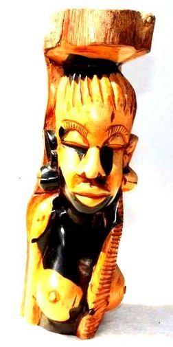 buste femme en bois ébène 5563-SAX-408