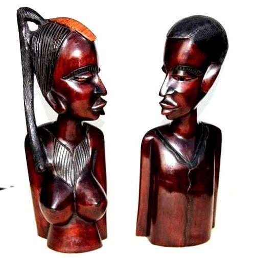 Statuette couple buste CSB2
