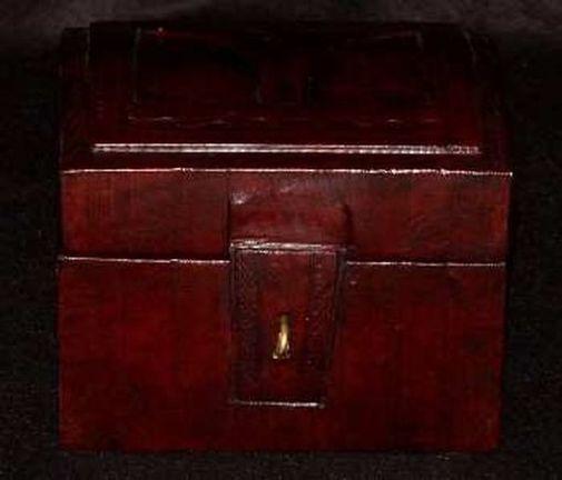 Boîte rectangulaire art Touareg en cuir BBCM1