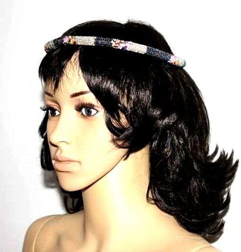Anneau en perles sur coiffure 6130-S3X-513